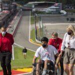 Juan Manuel Correa rindió homenaje a Anthoine Hubert en Spa